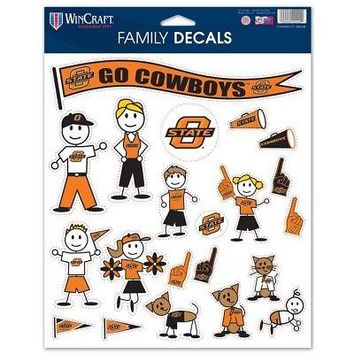 "Licensed Oklahoma State Cowboys NCAA 8.5""x11"" Large Family Car Decal Sheet 391636 KO_19_1"