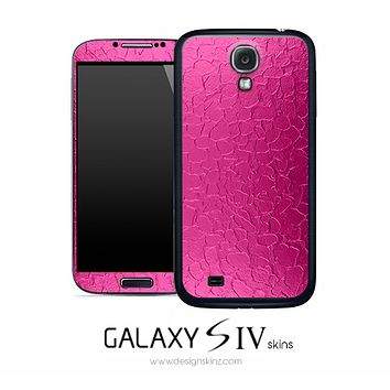 Pink Crackle Skin for the Galaxy S4