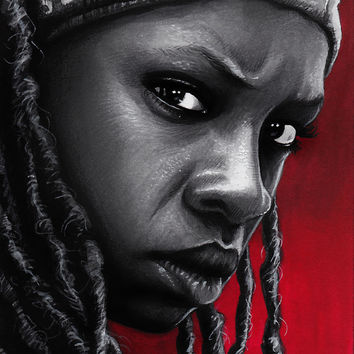 The Walking Dead - Michonne Art Print by Trev Murphy