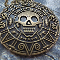 Pirates of the Caribbean Aztecan Coin necklace
