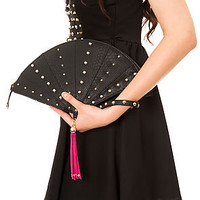 Nila Anthony Purse Black Geisha Wristlet in Black