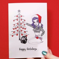 Bettie Happy Holidays Greeting Card
