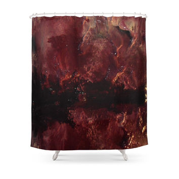 Society6 BLACK LUNG Shower Curtain