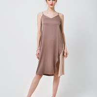 Brown Slip Dress Taupe Slip Dress Dusty Rose Slip Dress Blush Slip Dress