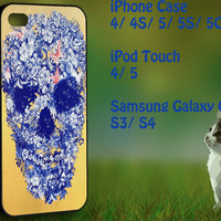 floral skull Samsung Galaxy S3/ S4 case, iPhone 4/4S / 5/ 5s/ 5c case, iPod Touch 4 / 5 case