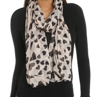 Falling Hearts Scarf | Shop Accessories at Wet Seal