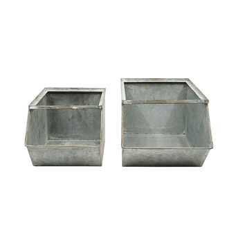 Sebastian Industrial Stacking Bins - Set of 2