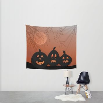 Halloween Pumpkins Wall Tapestry by UMe Images