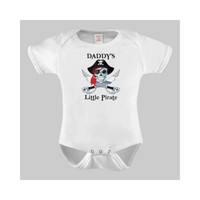 Pirate Baby, Daddy's Little Pirate Funny Baby Bodysuit or Toddler Tee, Boy clothes