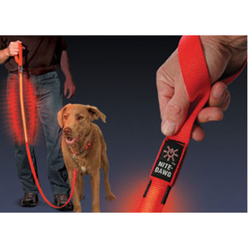 Nite Ize Nite Dawg LED Dog Leash in Red