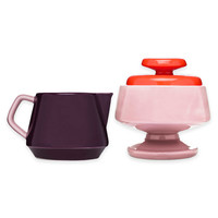 Sagaform® POP Lidded Sugar Bowl and Milk Jug in Pink/Plum