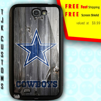 Samsung Galaxy Note 2 Case Note 2 Cowboys Case Galaxy Note 2 Dallas Cowboys Case Rubber w/ Metal