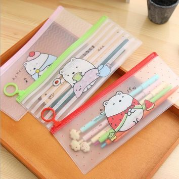 20pcs/lot Kawaii Fresh Friends series waterproof PVC Pencil bag clean up bag Nice gift office school Stationery supplies