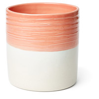 Dipped Utensil Crock, Melon/Cream, Cooking Utensils & Holders