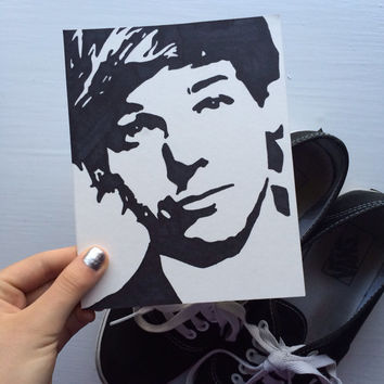 Louis Tomlinson One Direction pop art