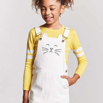 Girls Cat Face Overall Dress (Kids)