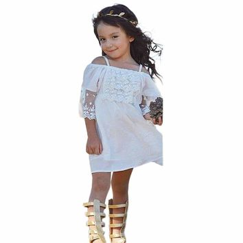Little Girls Off-shoulder Dress