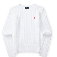CABLE COMBED COTTON SWEATER