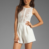 Finders Keepers Firehouse Playsuit in Ivory from REVOLVEclothing.com