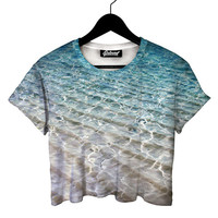 Beach Water Crop Tee