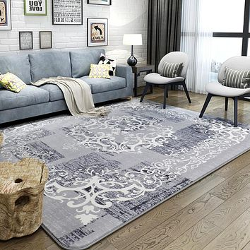 Pastoral Flannel Rugs And Carpets For Home Living Room