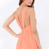 Keepsake Heartlines Bright Peach Dress