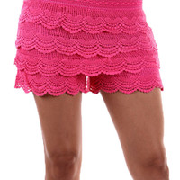 Waterfall Crochet Shorts