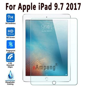 100% Top Quality 9H Tempered Glass For Apple New iPad 9.7 2017 Screen Protector Hard Cover For New iPad 9.7 2017 Tempered Glass