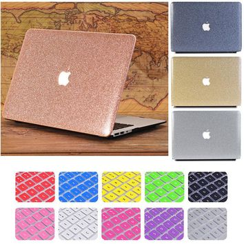 "Glitter Bling Shiny Frosted Rigid Plastic Case cover for Macbook Air Pro Retina 11"" 12"" 13"" 15"" PC"