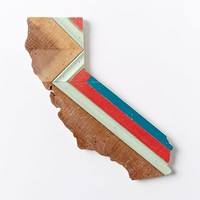 Hemlock & Heather California Wood Wall Hanging