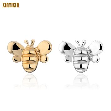 Tiny Cute Bee Stud Earrings For Women Gold Silver Honey Bee Animal Earring Fly Bird Fashion Jewelry Accessories Girl Party Gifts
