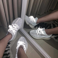 Adidas Yeezy Boost 350 V2 Static Coconut shoes Reflective light Babysbreath