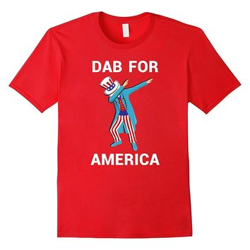 Dab For America Shirt Funny Dabbing Uncle Sam 4th of July