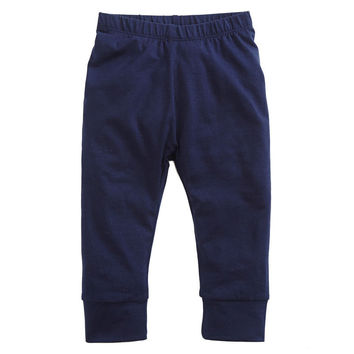 Solid Navy Cuffster Pants