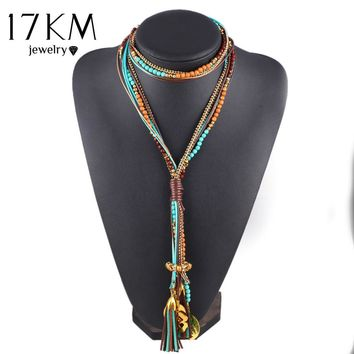 Women Multi layer Long Beads Necklace