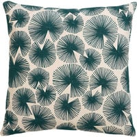 "sparks blue-green 16"" pillow"