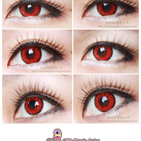 GEO Color Nine Red Halloween Crazy Contacts (Circle Lens) - EYECANDYS.COM