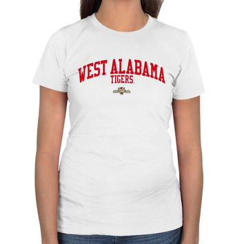 University of West Alabama Ladies Team Arch Slim Fit T-Shirt - White