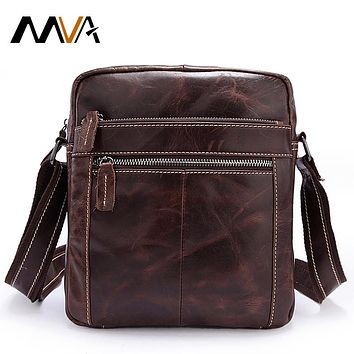 Men's Shoulder Bags Genuine Leather Men Bag Vintage Crossbody Bags Male Small Messenger Bag Men Leather Flap