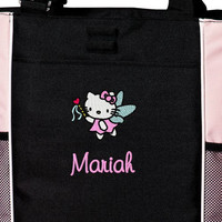Hello Kitty Personalized  Tote Embroidered Overnight Tote Diaper Bag 6 Colors