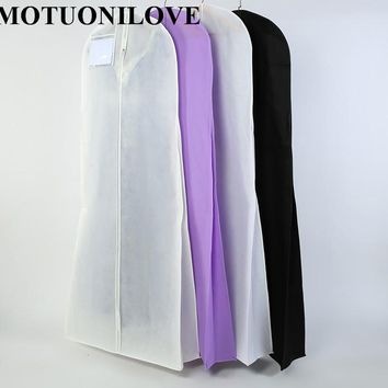 Length 180cm For Wedding Dress Bag Clothes Cover Dust Cover Garment Bags Bridal Gown Bag For Mermaid Wedding Dress Cover M0804
