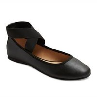 Women's Jane Elastic Ballet Flats with Ankle Wrap - Mossimo Supply Co.™