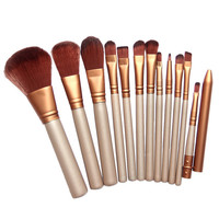 Free Shipping Pro Makeup Cosmetic 12pcs Brushes Set Powder Foundation Eyeshadow Lip Brush #BSEL