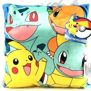 Pokemon Pikachu, Charmander, Evee Plush Stuffed Toy Soft Pillow- Assorted-1 Pc