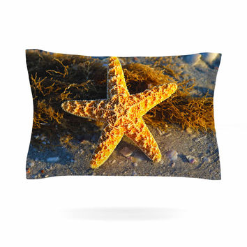 "Philip Brown ""Starfish"" Coral Gold Pillow Sham"
