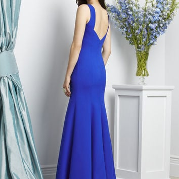 Dessy Collection 2936 Crepe Low Back Bridesmaid Dress