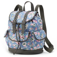 Candie's Ella Floral Backpack (Blue)