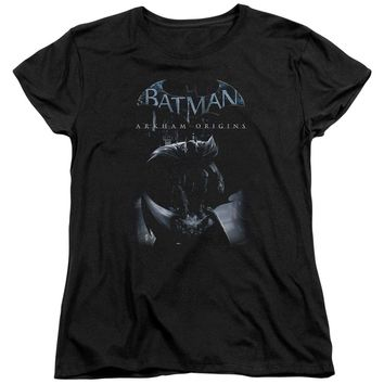 Batman Arkham Origins - Perched Cat Short Sleeve Women's Tee