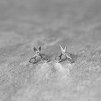 Mini Scissors Earrings, Sterling Silver Scissors Stud Earrings, Cute Earrings, Tiny Earrings, Scissors Studs, Scissors Jewelry, gift for her
