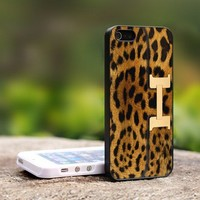 Leopard Bag - For iPhone 4,4S Black Case Cover